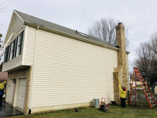 Exterior Wall Power Washing
